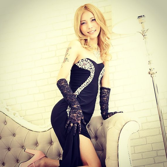 CD Japanese in sexy dress