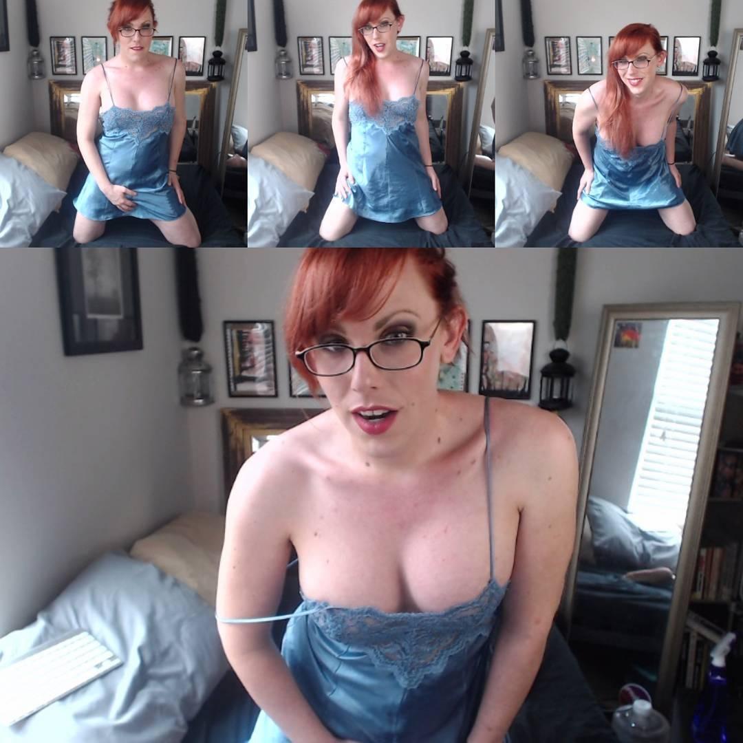 Ginger glasses TS Katie Kuddles tease