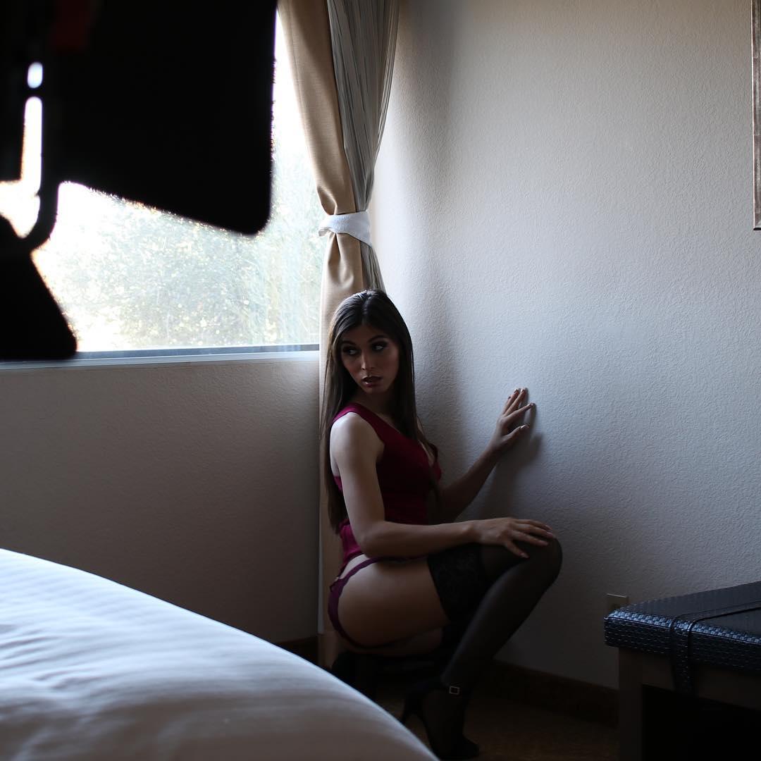 Artistic shot of Korra Del Rio