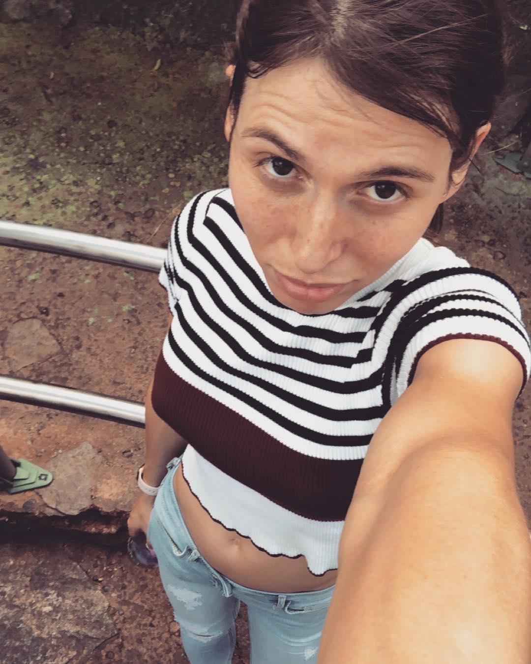 Korra Del Rio outside selfie