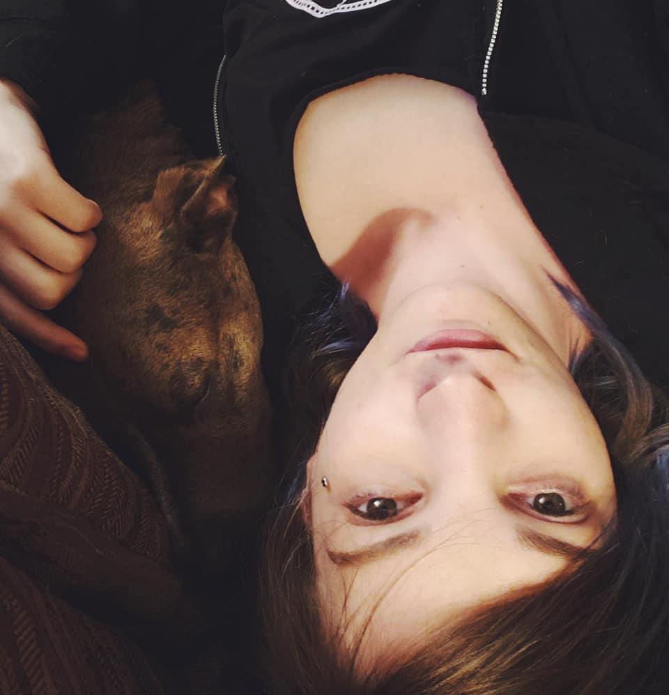 Ellen Argent puppy cuddles