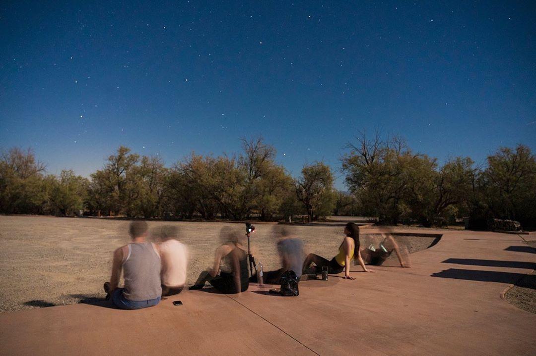 Natalie Mars stargazing