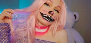 Scary TS Halloween makeup