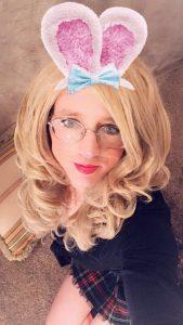 Blonde sissy bunny