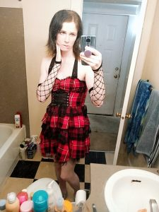 TS Alice Fox in plaid dress