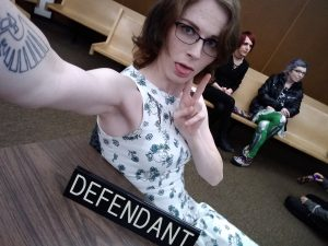 Courtroom selfie with TS Alice Fox