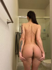 Khloe Kay back and booty before shower