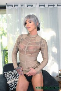 TS Nina Lawless in sheer shirt