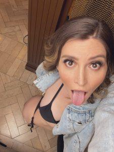 Examine TS Korra Del Rio tongue