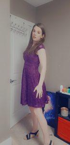 TS Jade in a sexy purple dress