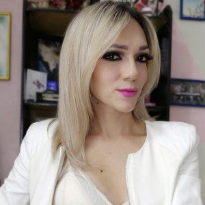 Beautiful trans Barbie Tamer face selfie