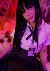 Blondelashes19 cosplaying Jabami Yumeko