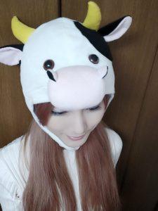 Chulin Nakazawa looking silly with ox cosplay