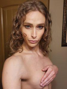 Eden Rose topless tease with handbra